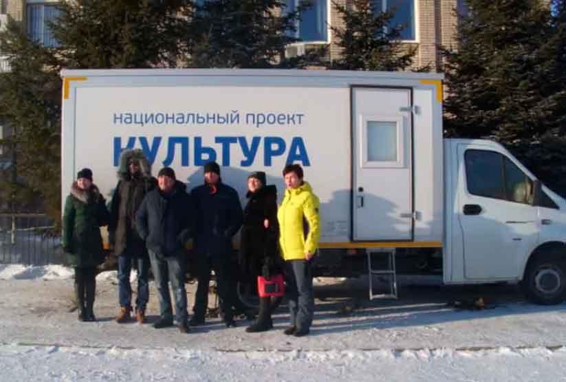 Передвежной автоклуб прибыл в отдел культуры районной администрации