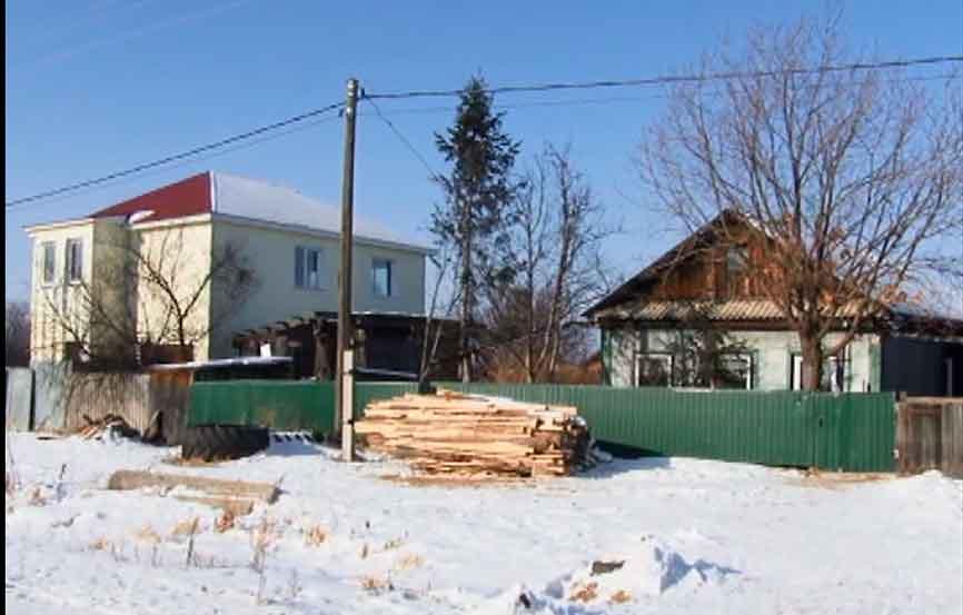 Пожар жилого дома в поселке Николаевка
